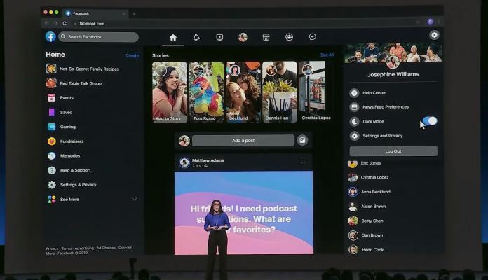 Facebook begins testing dark mode