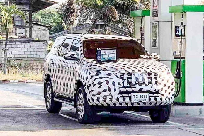 Heavily Camouflaged Toyota Fortuner 2020 on Test Road in Thailand.