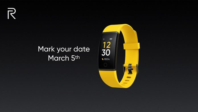 Realme Fitness Band launch in India to take place on March 5.