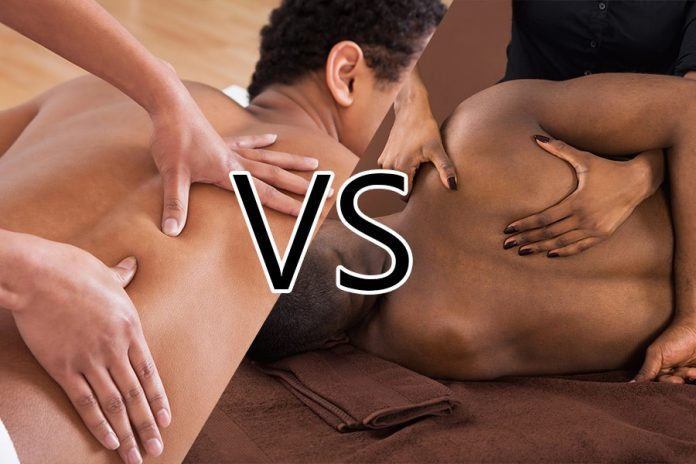 Deep tissue massage vs swedish massage