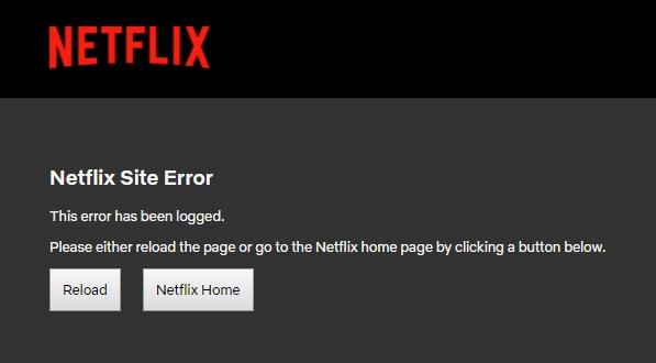 Netflix Site Error